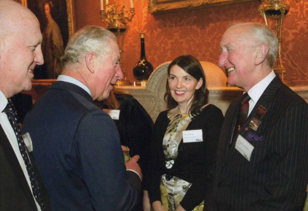 Nigel meeting HRH The Prince of Wales at Buckingham Palace.