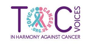 ToC Voices logo graphic image.