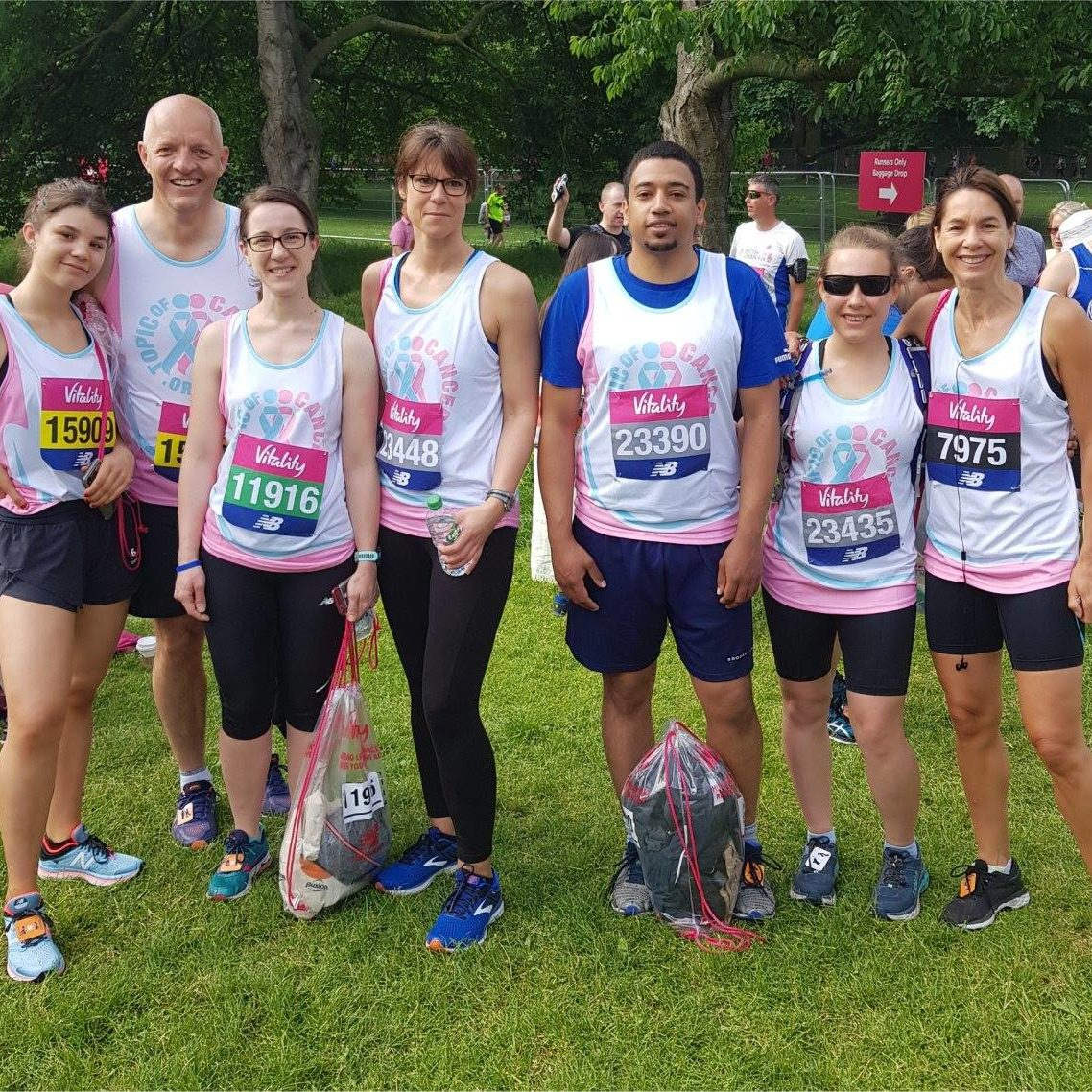 Image of the Topic of Cancer Vitality London 10k team who completed the event to raise funds for objectives.